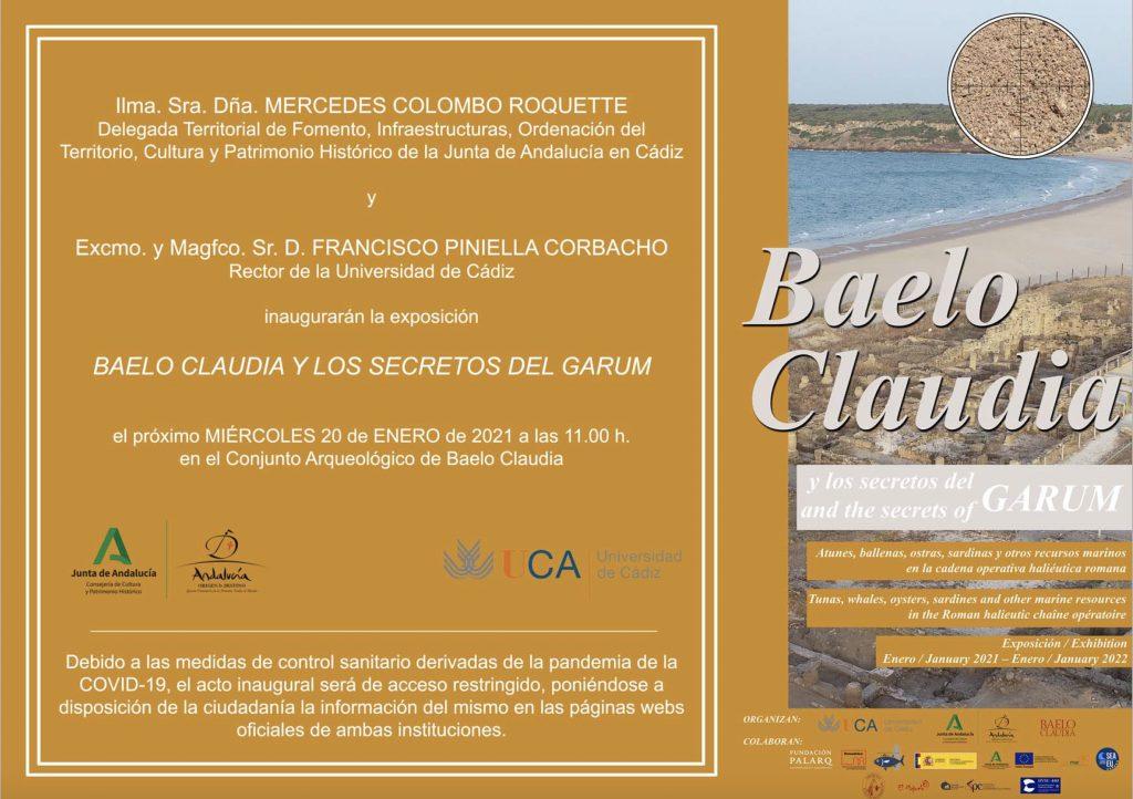 """Inauguración de la exposición y la presentación del libro """"Baelo Claudia y los secretos del garum"""". Nuestro compañero el Prof. Victor Palacios es comisario de la Exposición."""