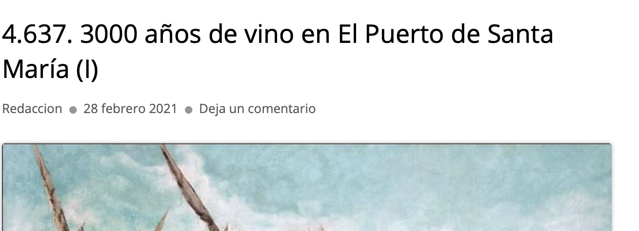 Interesante artículo de nuestro compañero Juan Gómez sobre la historia del vino en el Puerto de Sta. María